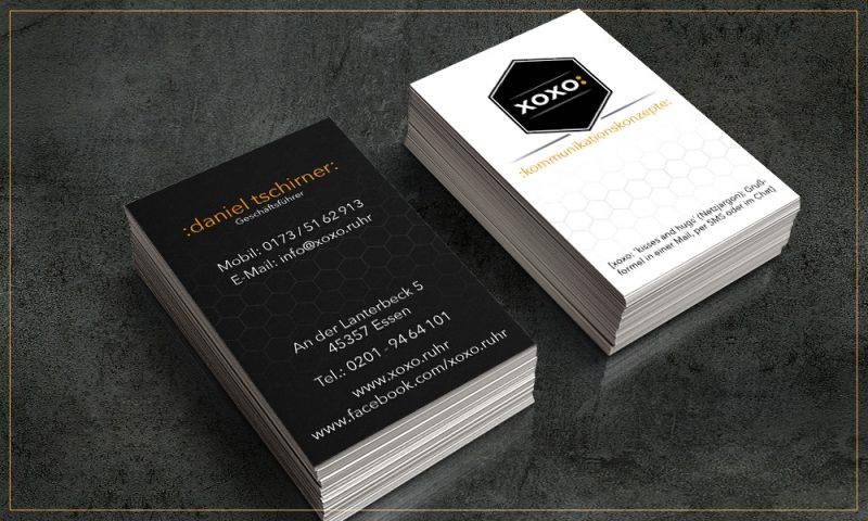 Xoxo Kommunikationskonzepte Top Angebot Visitenkarte